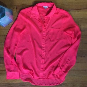 AEO HOT PINK Button Down